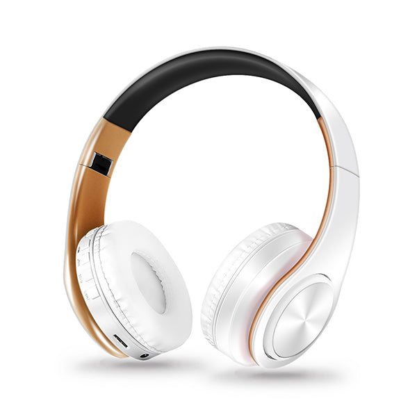 New Gold colors Bluetooth Headphones Wireless with Mic /TF Card