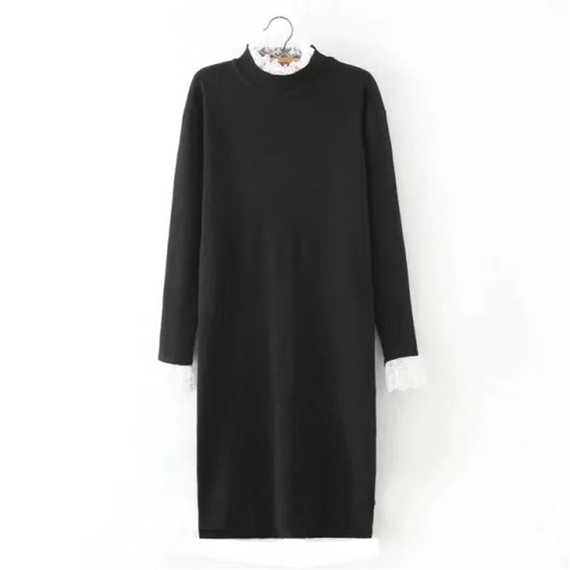Elastic Sweater Knitted Long Sleeve Autumn Dress