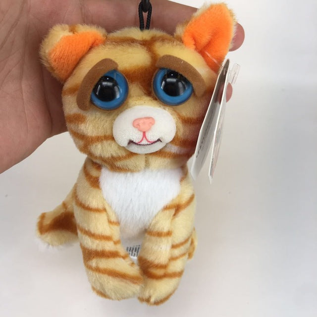 Feisty Pets Cat Plush Toys Key Ring Chain Hand Bag Expression - buyaddict