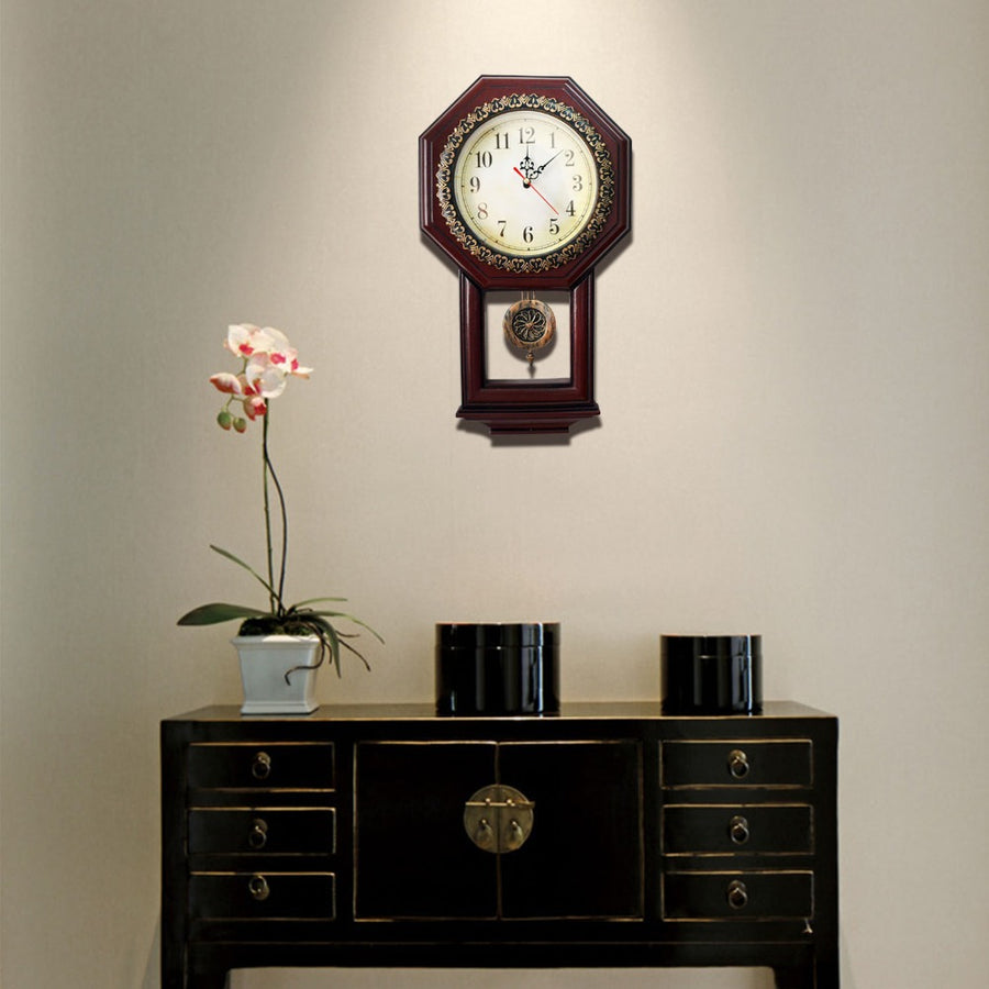 Handmade Vintage Wall Clock With Pendulum Antique Style Clocks