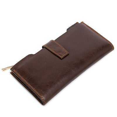 23 Card Positions Men Genuine Leather Wallet
