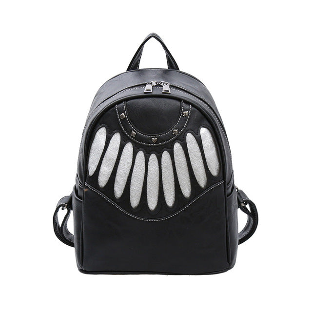 Soft Surface Female PU All-match Large Capacity Wind School Student Bag Bag