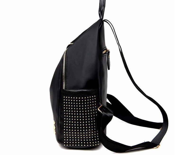 new Korean version of Oxford cloth backpack fashion rivets