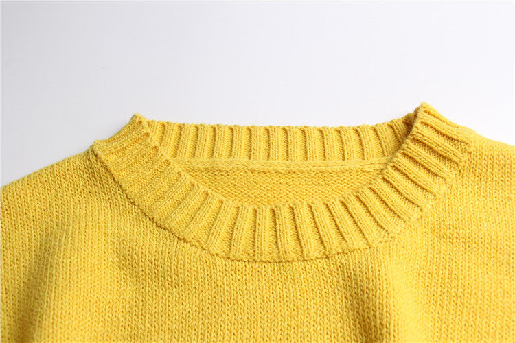 women embroidery sweater candy color