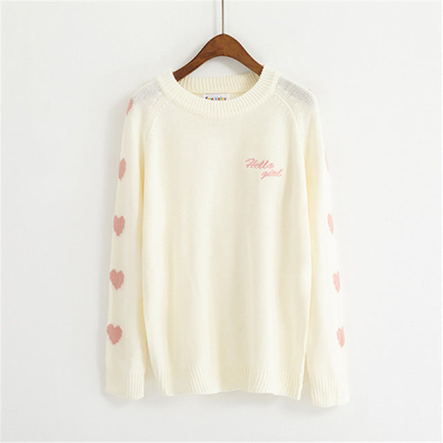 Women Sweater Love Heart