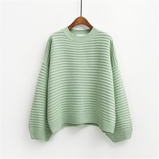 Women Sweater Chic Style  Loose Cute