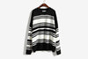Korean Striped women Loose Sweater - buyaddict