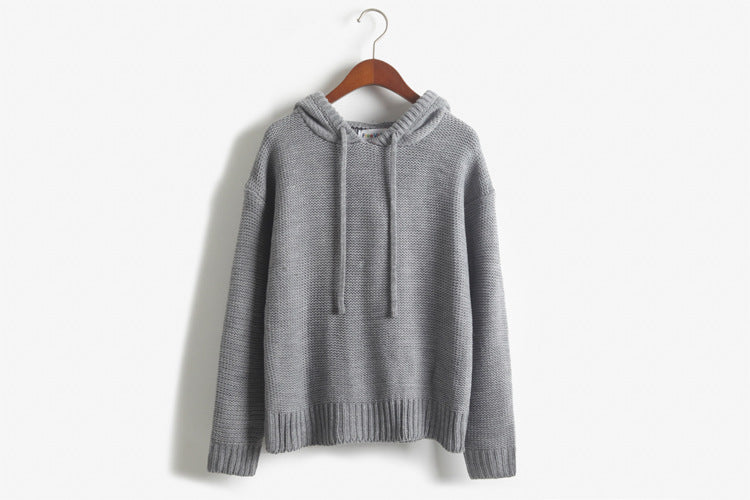 Women Thick Hooded Sweater