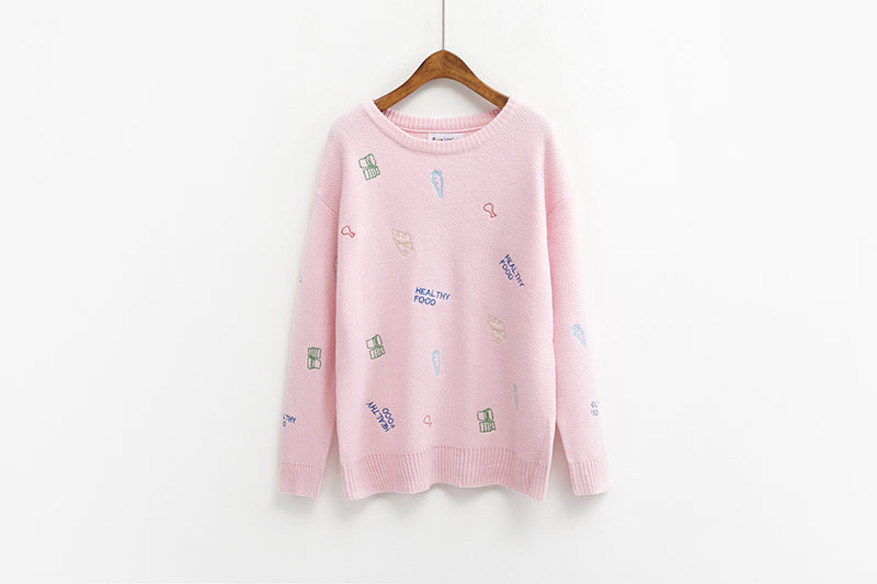 Women Pullover Sweater Korean Fashion - buyaddict