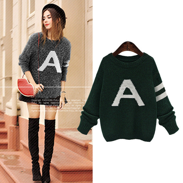 Women Knitting Pullovers Sweater