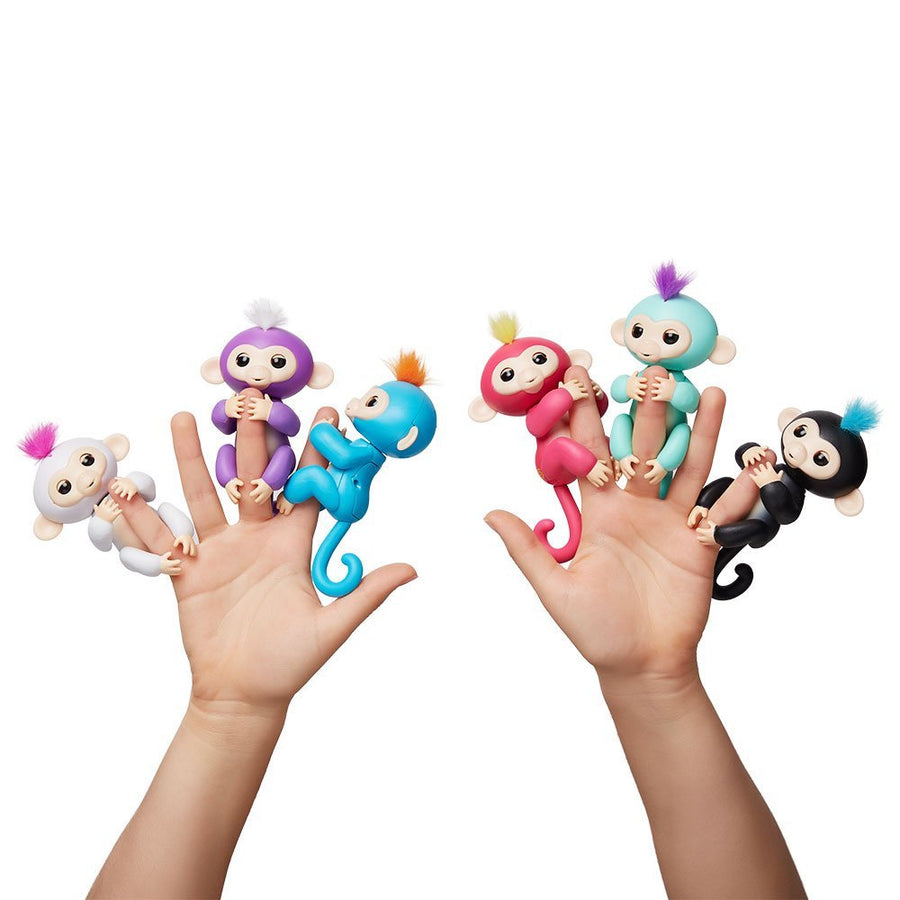 black Authentic Fingerlings Interactive Finger Monkeys WowWee Smart Toy  Kid Gift