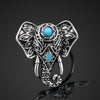 Bohemian Style Vintage  Elephant Lucky Rings Party Adjustable Free Shipping