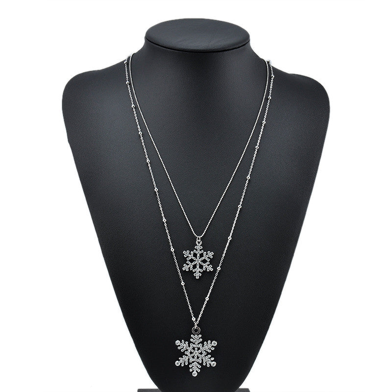Double Layers Necklace & Pendant Free shipping