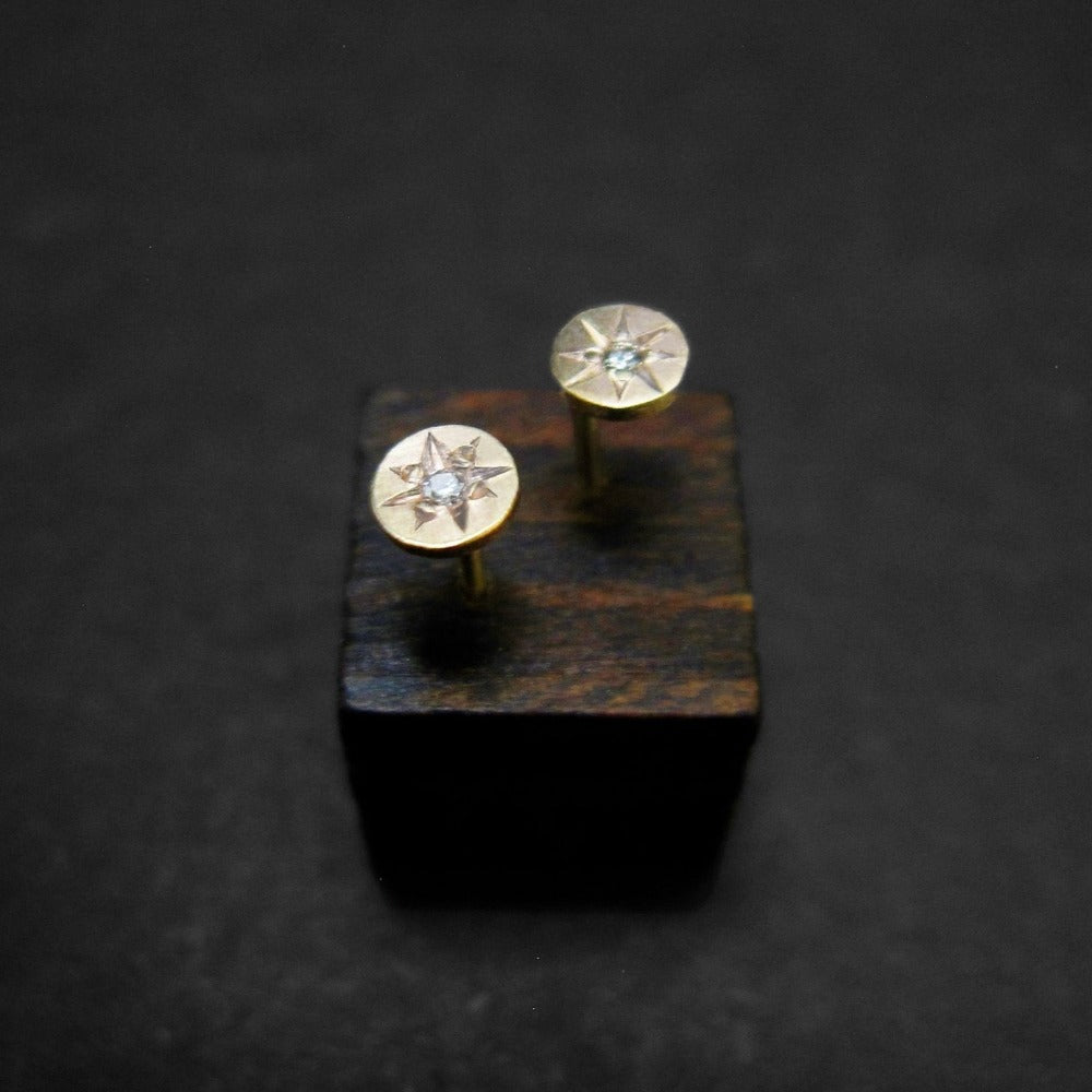 Starburst Disc Stud Earrings