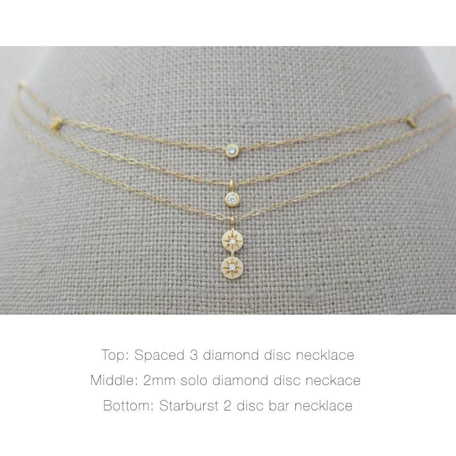 Solo Diamond Disc Necklace