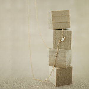 Baguette Diamond Necklace-AF HOUSE
