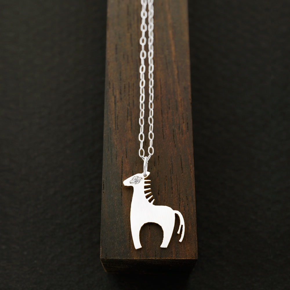 Horse Necklace-Silver