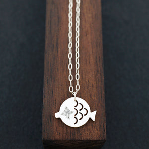 Load image into Gallery viewer, Fish Necklace-AF HOUSE