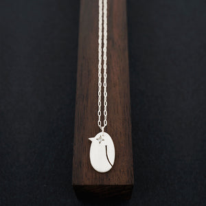 Penguin Necklace-Silver