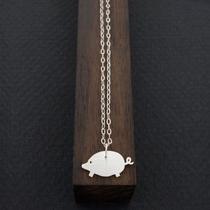 Pig Necklace-Silver