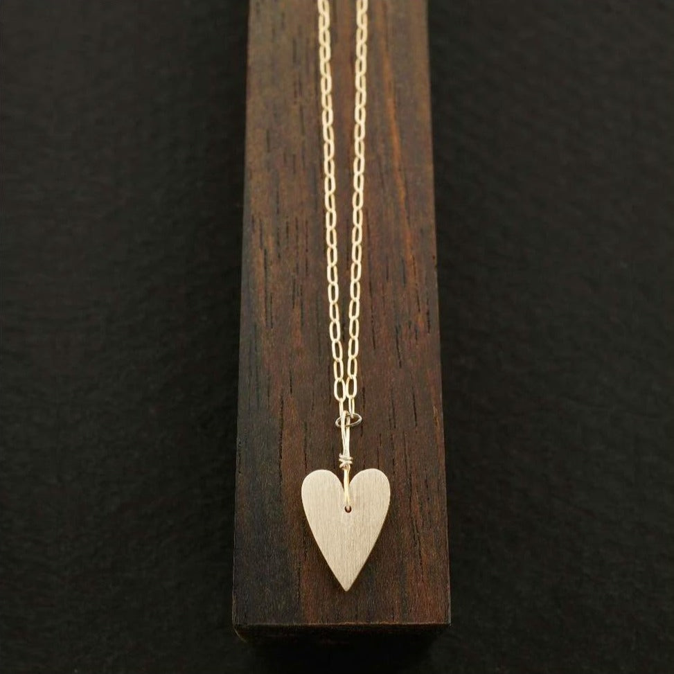 Skinny Heart Necklace