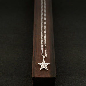 Star Necklace-Silver