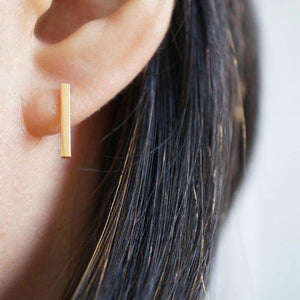 BAR STUD EARRINGS-AF HOUSE