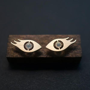 EYELASH STUD EARRINGS-AF HOUSE