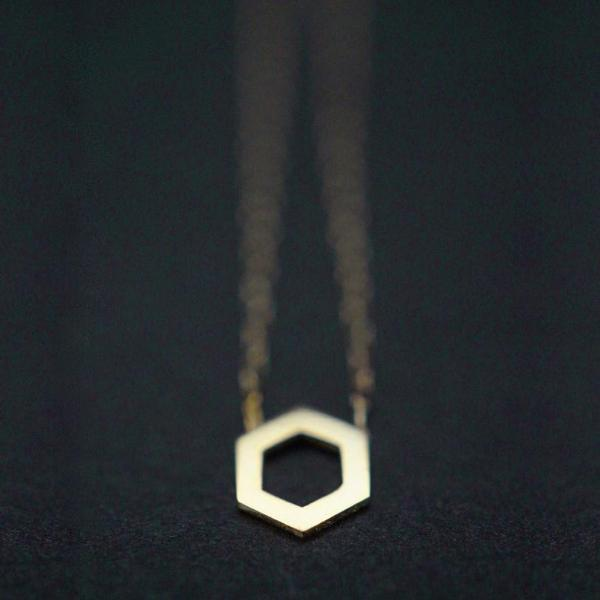 HEXAGON NECKLACE-AF HOUSE