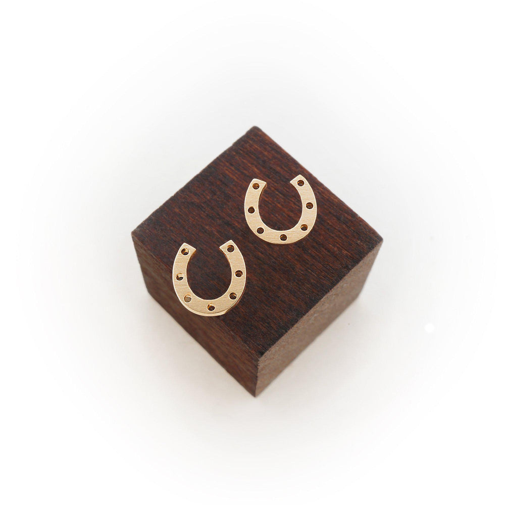 HORSESHOE STUD EARRINGS-AF HOUSE