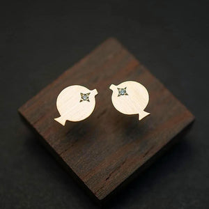 MAMBO FISH STUD EARRINGS-AF HOUSE
