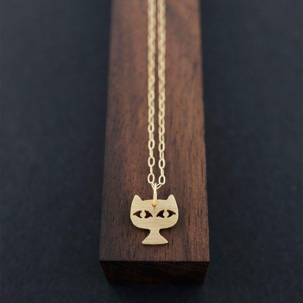 Cat Face Necklace-AF HOUSE