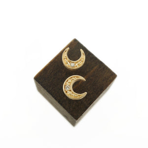 MOON STUD EARRINGS-AF HOUSE