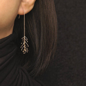 PIN DROP CHAIN EARRINGS-AF HOUSE