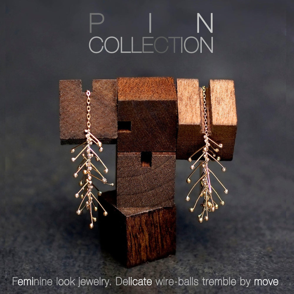 PIN DROP CHAIN EARRINGS