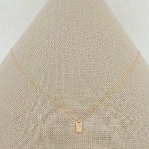 RECTANGULAR ID TAG NECKLACE-AF HOUSE