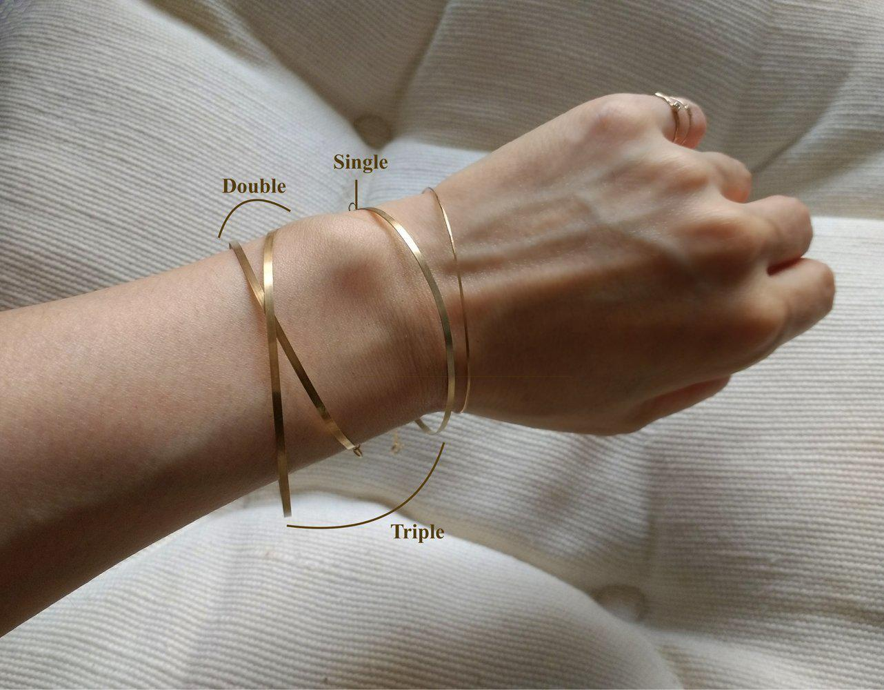SHEET WIRE WRAP BRACELET-AF HOUSE