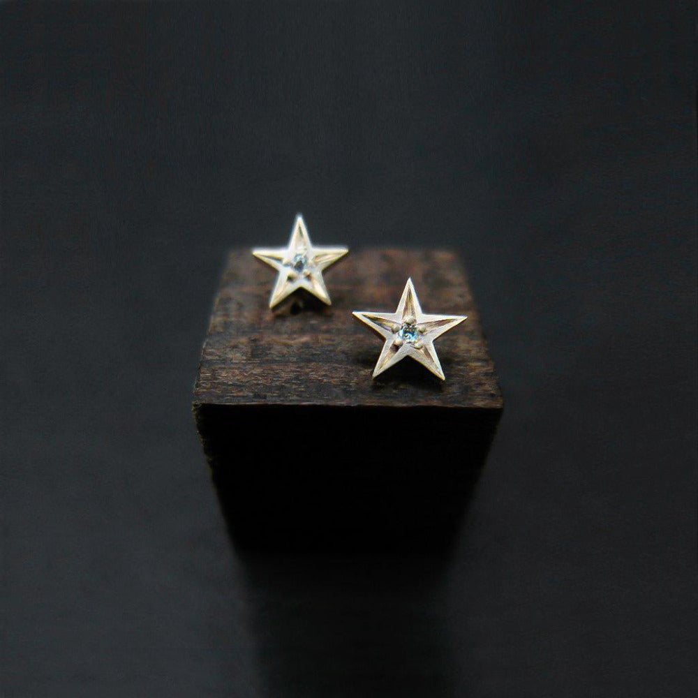 STAR STUD EARRINGS-AF HOUSE