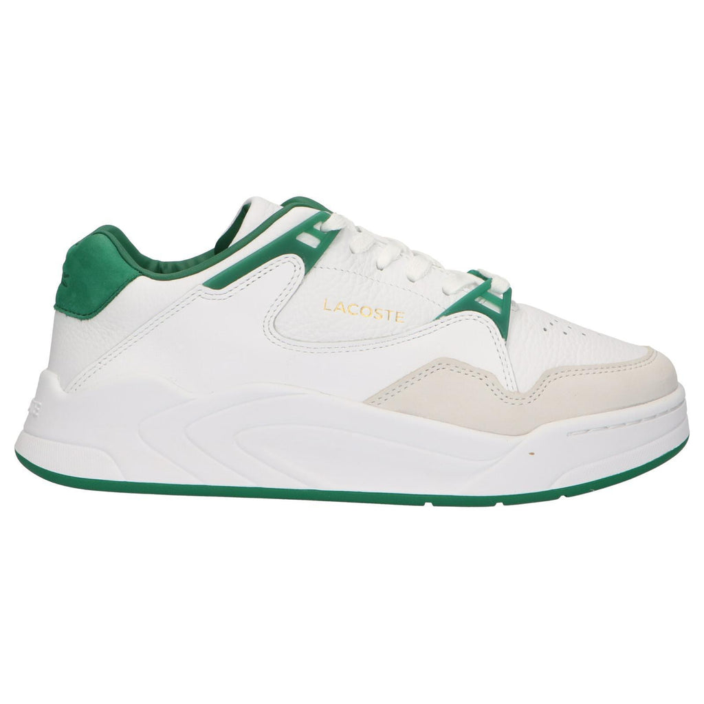 Lacoste Trainers Mens White/Green