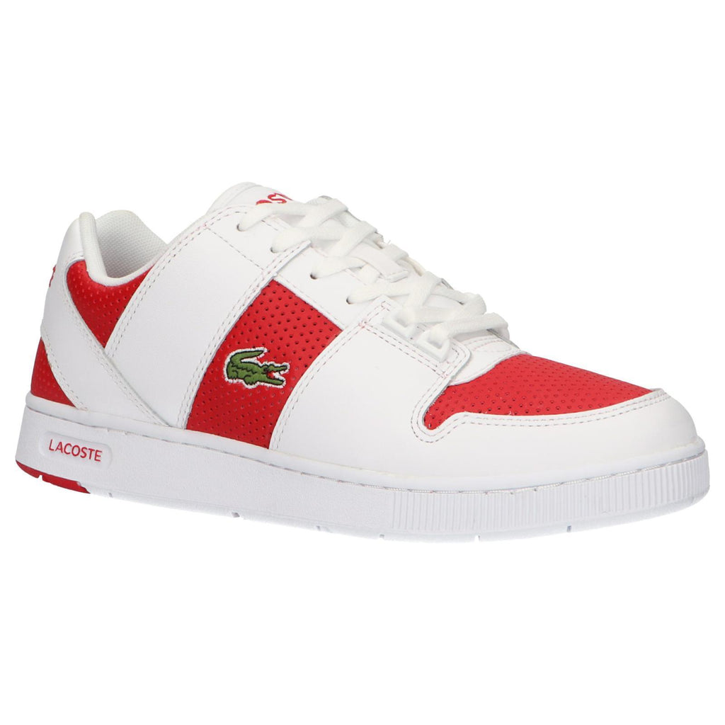 wide range on feet images of famous brand Lacoste Trainers Mens White/Red Running | Lacoste Shoes ...