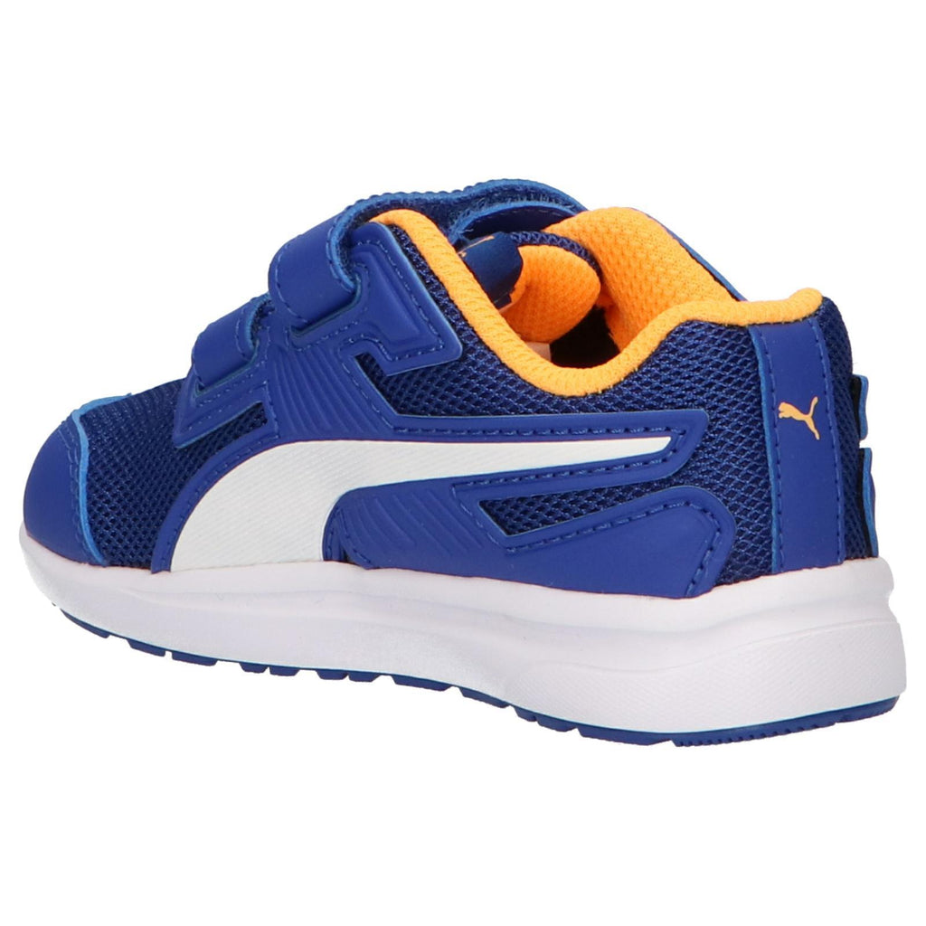 puma trainers blue yellow