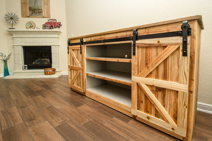 Farmhouse Barn door Media Console