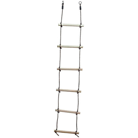 Garden Games Rope ladder 6 rung - PP rope ATJE25 Buy Online - Your Little Monkey