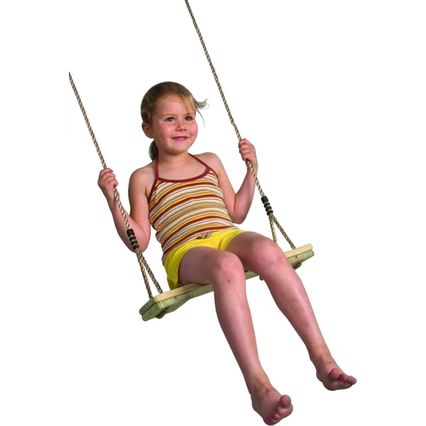 Garden Games Pine Wooden Swing Seat - PP Rope  K120.001.010.001 Buy Online - Your Little Monkey