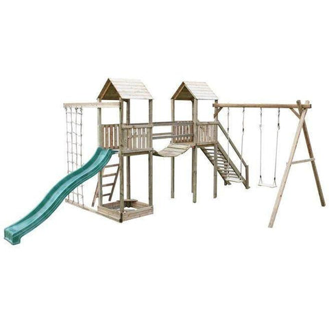 Action Arundel Twin Towers Climbing Frame (ATJE254) + FREE GIFT Buy Online - Your Little Monkey