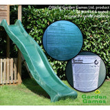 Garden Games Slide, Heavy Duty Wavy Green 3m ATJE153.1* Buy Online - Your Little Monkey