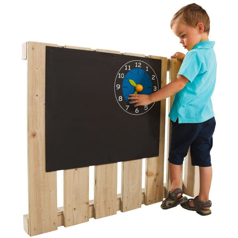 Blue Rabbit Black board with Clock - Your Little Monkey