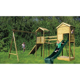 Action Monmouth Lodge Twin Towers Climbing Frame (ATJE279) + FREE GIFT Buy Online - Your Little Monkey