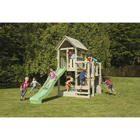 Blue Rabbit Penthouse Tower Climbing Frame With Slide + FREE GIFT - Your Little Monkey