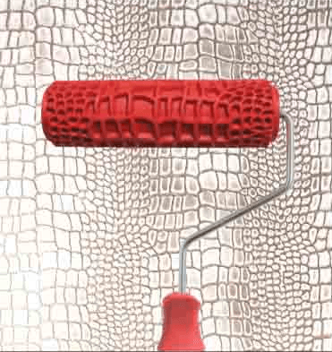 Crocodile Roller - textured paint rollers. Medium sized decorative roller